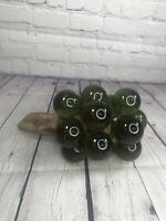 Vintage MCM Mid Century Green Lucite Acrylic Grapes Cluster Wood