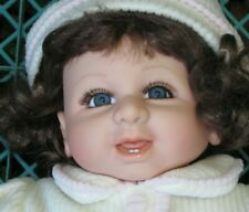 II 0218 Puppe Baby Locken reborn Kunststoff Weichkörper ca 55 cm Locken  Zähne