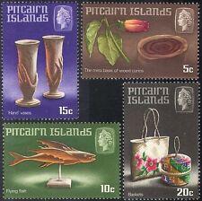 Pitcairn Is 1968 Fish/Flower/Vases/Basket/Handicraft/Craft 4v set (n23452a)
