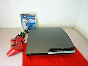 SONY PS3 CECH-2501A Slim 160GB Charcoal Black Console Bundle w/Controller & Game