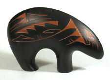 Vintage NAVAJO Pottery BLACK BEAR FETISH Sculpture Statue JYM Native American