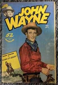 John Wayne #5 Adventure Comics 1951 Photo Cover INCOMPLETE Low Grade