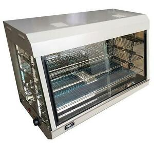 Electric Heated Countertop Display Cabinet Food Warmer Glass Holding Case Pie
