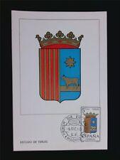 SPAIN MK 1965 ESCUDO TERUEL WAPPEN BLAZON MAXIMUMKARTE MAXIMUM CARD MC CM c5970