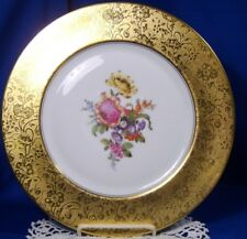 H&C Heinrich & co selb bavaria gold encrusted plate stouffer studio C.1918-1922