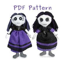 Gothic Rag Doll Venus/Vesper PDF SEWING PATTERN & Tutorial