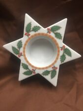 Hutschenreuther 1814 Germany Porcelain Candle Holder Holiday Christmas Gift
