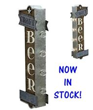 CRAFT BEER Off the Wall Tin Sign, Double sided  BIG BOLD LED Lights