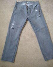 Aeropostale Aero Men's Jeans Essex Straight Leg 33x30 Distressed Gray