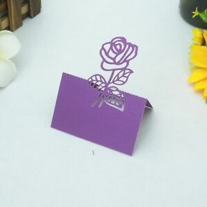 Table Card Pearlescent Paper Party Tag Decoration Rose Patterned 50 Pcs/Lot Tool