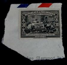 Nice Vintage Used Nicaragua El Presidente A Somoza 30 Stamp, Good Cond