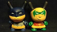 Dunny Batman and Robin Vinyl Blind Bag Figurines DC