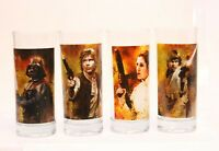 4 Star Wars Glasses Han Solo Vader Princess Leia & Luke Skywalker Vandor 2011