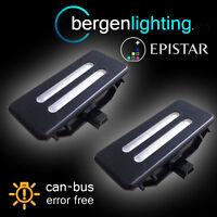 FOR BMW 5 SERIES E60 E61 2003-10 18 LED VANITY MIRROR SUN VISOR LIGHT LAMP BLACK