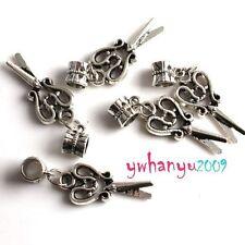 10pcs Scissor Charms Dangle Pendant Beads Fit Charm Bracelet Tibet Silver Plated
