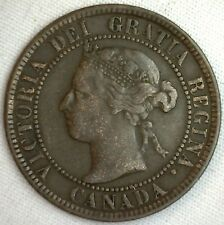 1894 Copper Canadian Large Cent Coin 1-Cent Canada VG #3