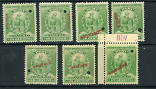 Peru 142 Seven Different Specimen Overprints MNH