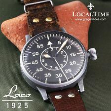 Década de 1940 LACO [Lacher & Co. - Pforzheim] Segunda Guerra Mundial Luftwaffe B-Uhr beobachtungsuhr Reloj