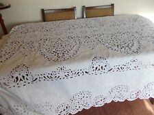 More details for stunning vintage madeira  banquet tablecloth 176 ins x 72 ins