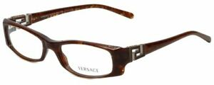 Versace Designer Reading Glasses VE3076B-585-50 mm Brown Marble Tortoise Silver