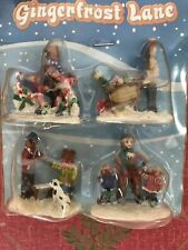 Vintage Gingerfrost Lane Christmas Village Accessories. Nos
