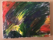 """Original Painting Modern Abstract Signed Unframed 12x16"""""""