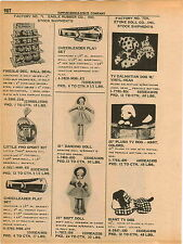 1961 ADVERT Eagle Rubber Co Toys Toy Soft Doll Etone Doll Giant TV Dog