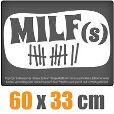 MILFs  chf0022 weiß 60 x 33 cm Heckscheibenaufkleber Auto Car Scheibenaufkleber