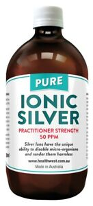 Colloidal/Ionic Silver 50PPM Practitioner strength    Anti-Microbial