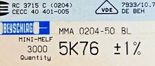 1000pcs resistor SMD 5.76K ohm minimelf 50ppm 1% 0.4W MMA020450BL 5K76 BEYSCHLAG