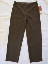 JM Collection Petite Woman's Brown Flattering Fit Career Dress Pants, Sz:8P ~NWT