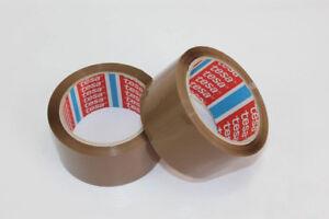 12 Rollen TESA Packband 64014 PP leise Klebeband Paketband Braun 50mm x 66m