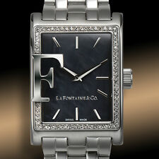 NEW La Fontaine & Co 1188M Womens crystals Dache Watch Swiss Made
