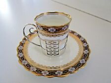 Aynsley Coffee Can & Saucer with Silver Holder, Hallmarked 1923