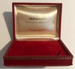 Scatola MOVADO Kingmatic Esquire Chronometer Vintage Watch Box 10.5 14 cm