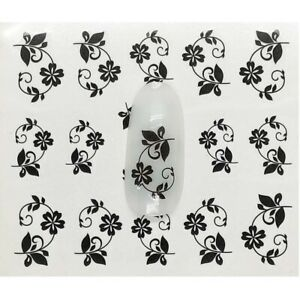 Flower Nail Art Decorations Stickers Decal Water Transfer Tips Temporary Tattoos