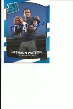 DESHAUN   WATSON    TEXANS      AUTOGRAPHED    CARD