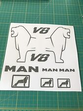 Tamiya Man Lion Set Decals Stickers 1/14 Scale
