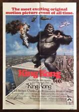 KING KONG 1976 Jessica Lange Creature Feature Horror Sci Fi ORIG MOVIE POSTER