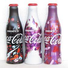 Set of 3 VERY RARE aluminium bottle COCA COLA eredeti iz LIMITED EDITION HUNGARY