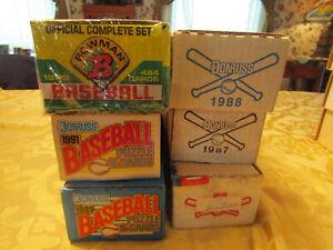 SEALED BASEBALL SETS 1986, 1987, 1988, 1989, 1991 DONRUSS & 1989 BOWMAN (jf)