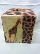 Swazi Kerze Giraffe Afrika  Fair Trade 9 x 9 cm