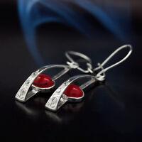 Koralle Silber 925 Ohrringe Damen Schmuck Sterlingsilber H0320