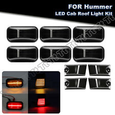 10x Smoke LED Cab Roof Light Marker Roof Top Lamp For Hummer 2005-2009 H2/H2 SUT