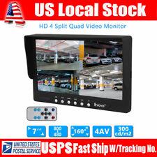 7 Inch 4 Split Quad Car Reversing Video Monitor Display Backup Camera Ultra Thin