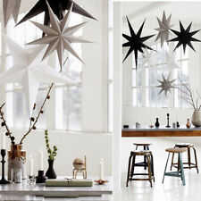 Colorful Nine Angles Stars Hanging Paper Wedding Party Decor Festival Ornaments