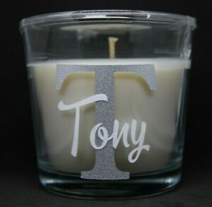 Personalised Candles With Initial & Name in Different Scents 25 Hour Burn Time
