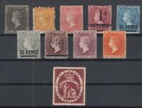 C2928/ BRITISH ST VINCENT – VICTORIA – 1871 / 1891 MINT CLASSIC LOT – CV 325 $