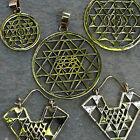 Sri Yantra Pendants Brass Yoga Jewellery Sacred Geometry Necklace Ethnic Chakra