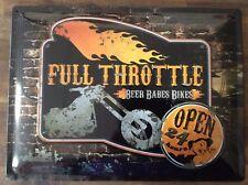 Full Throttle Tin Sign - 30cm x 40cm